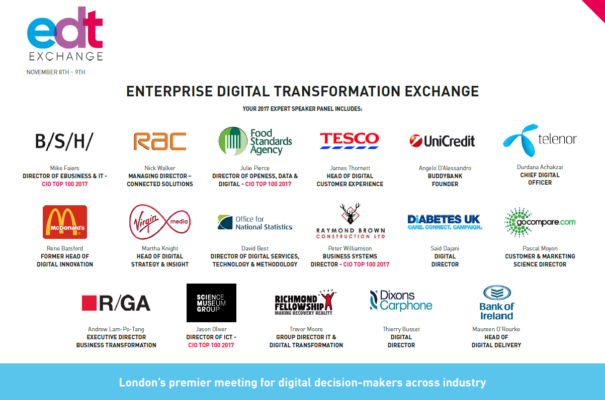 Enterprise Digital Transformation Exchange Agenda
