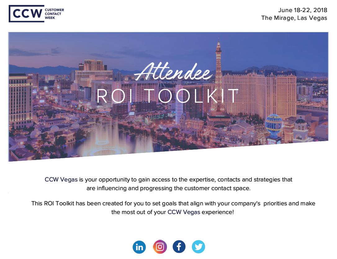 2018 CCW Vegas ROI Toolkit