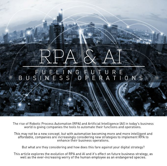 RPA and AI: Fueling Future Business Operations