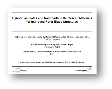 Hybrid laminates and nanoparticle reinforced materials for improved rotor blade structures