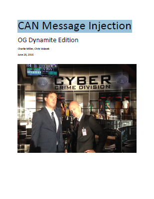 CAN Message Injection
