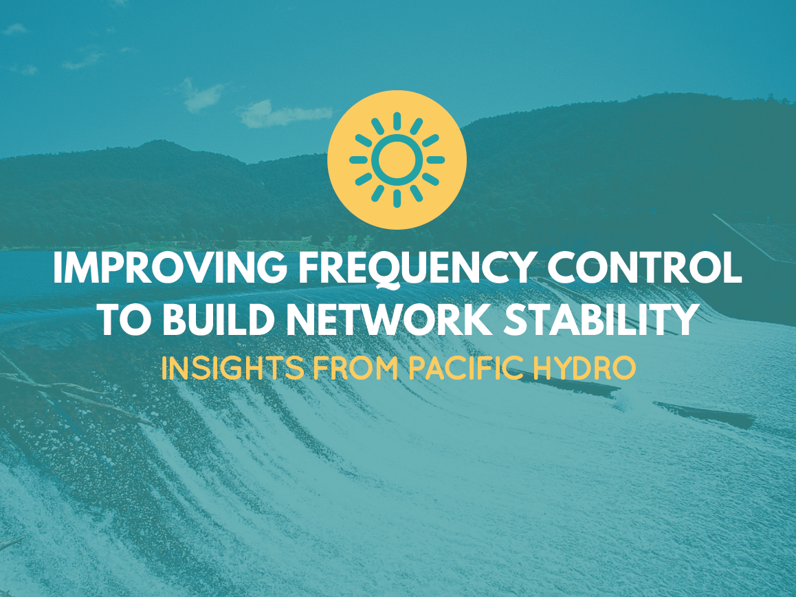 Improving frequency control to build network stability Insights from Pacific Hydro