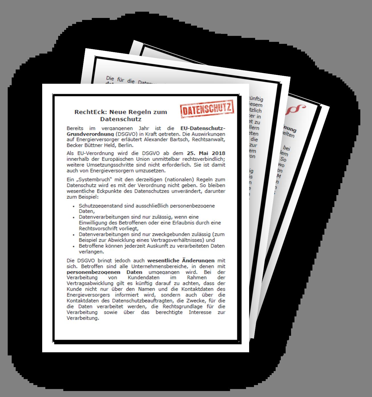 EU-Datenschutz-Grundverordnung und Insolvenzrechts-Novelle