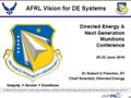 AFRL Vision for DE Systems