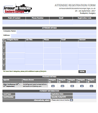 Armoured Vehicles Eastern Europe Registration Form