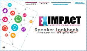 EX Impact Speaker Lookbook: Hear from Employee Experience Leaders from Charles Schwab, Chevron, HP and more!
