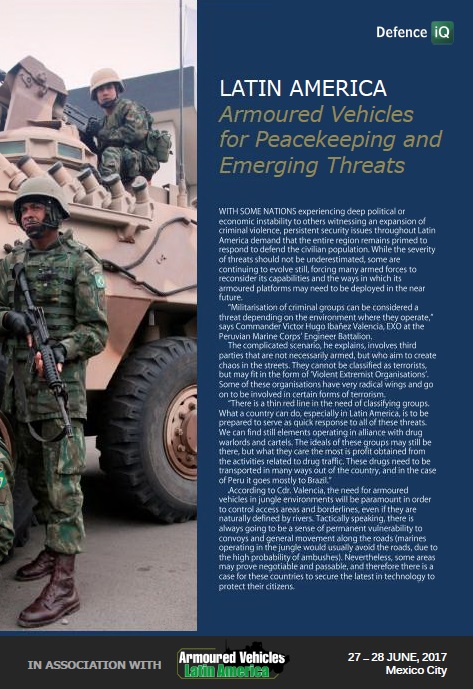 Latin America: Armoured Vehicles for Peacekeeping and Emerging Threats