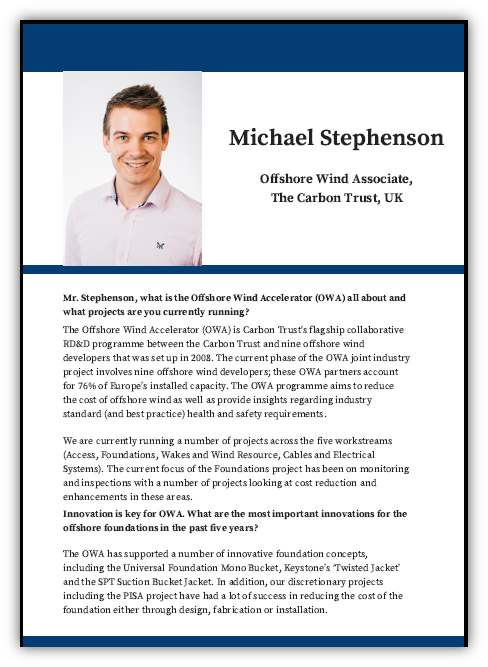 Interview with Michael Stephenson
