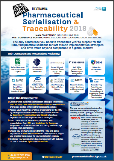 Serialisation & Traceability Forum Agenda 2018