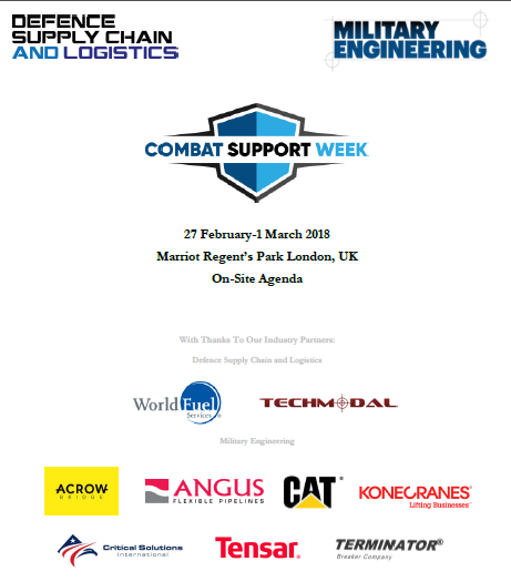 Download the Combat Support Week 2018 On-Site Agenda