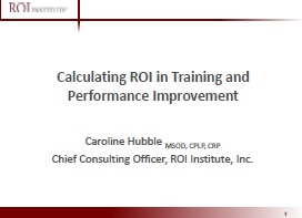 Calculating ROI in Training and Performance Improvement
