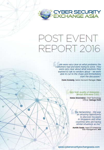 Cyber Security Exchange Asia 2016 Post Event Report