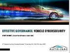 Effective Governance: Vehicle CyberSecurity