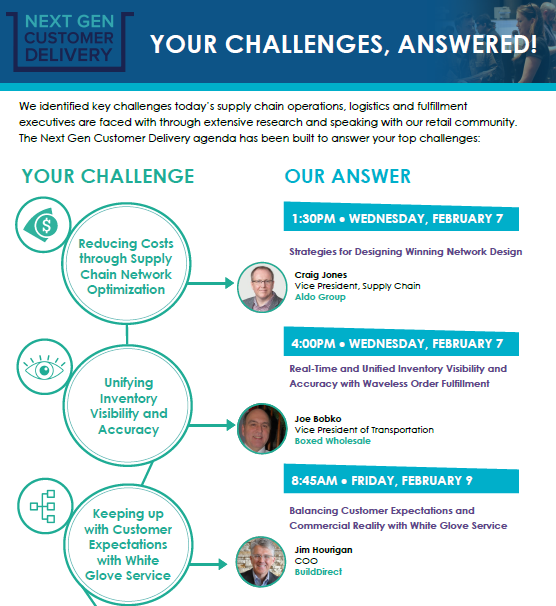 Your Challenges Answered! Next Gen Customer Delivery Session Infographic