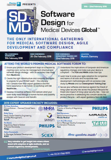 Software Design for Medical Devices 2018 AGENDA