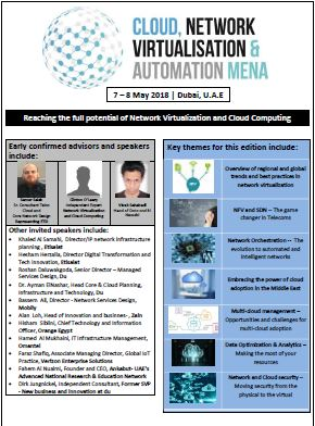 Draft Agenda - Cloud, Network Virtualization and Automation MENA