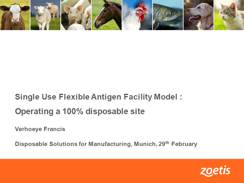 Single Use Flexible Antigen Facility Model : Operating a 100% disposable site