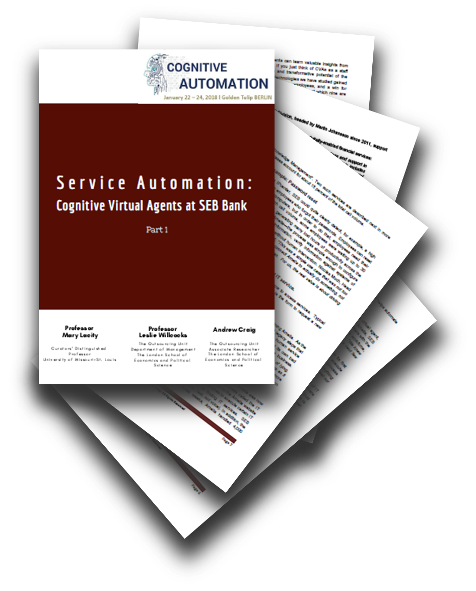 Part I: Report on Cognitive Virtual Agents at SEB Bank