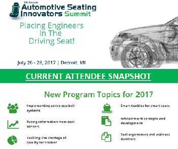 Automotive Seating Summit Current Attendee Snapshot