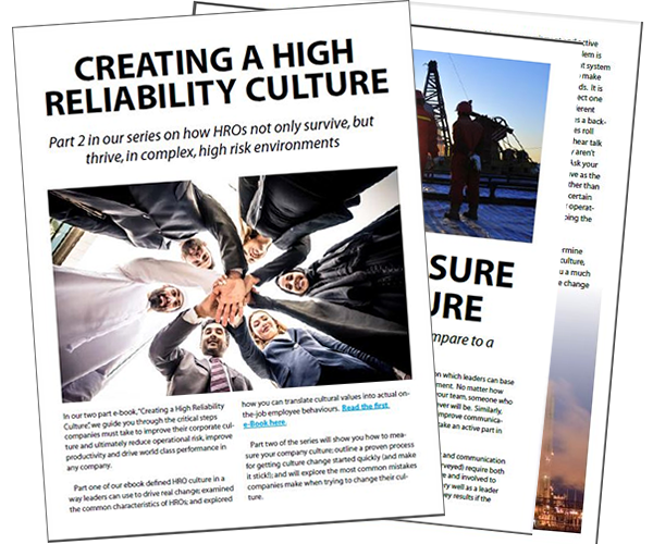 Building a High Reliability Culture
