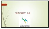 Presentation on asset integrity management by Reliability Manager, Salalah Methanol Company