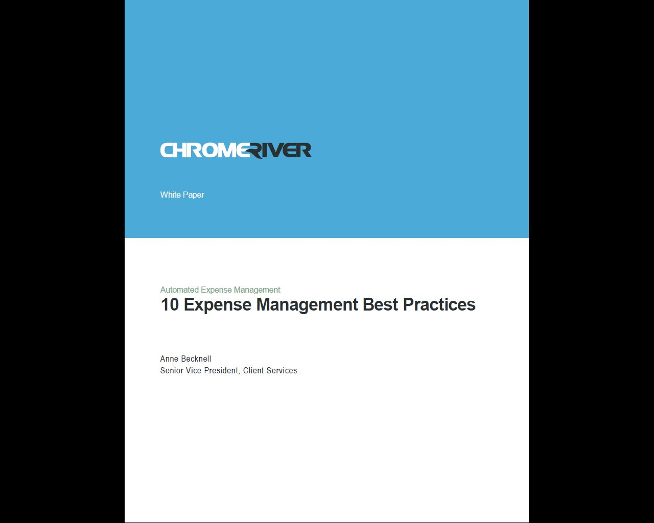 Chrome River - 10 Expense Management Best Practices