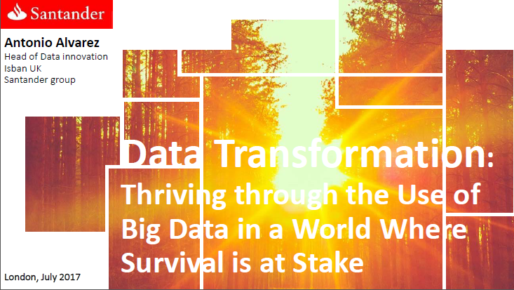 Data Transformation: Thriving through the Use of Big Data in a World Where Survival is at Stake
