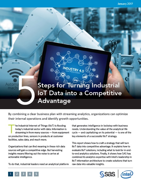 5 steps to successfully use IIoT data by SAS