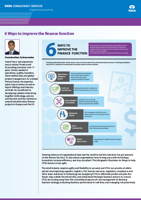 6 ways to improve the finance function