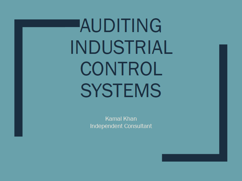 Auditing Industrial Control Systems