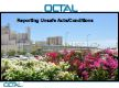 Presentation by OCTAL on reporting unsafe acts and conditions