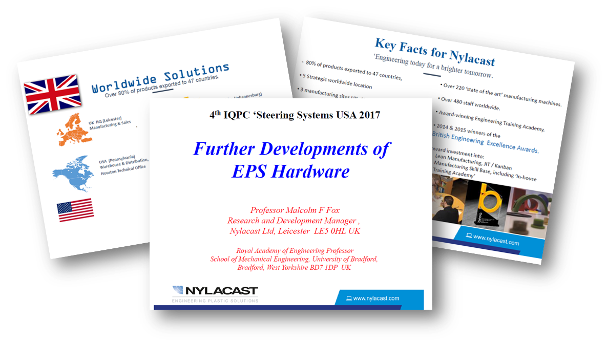 Further Developments of EPS Hardware - a presentation by Nylacast