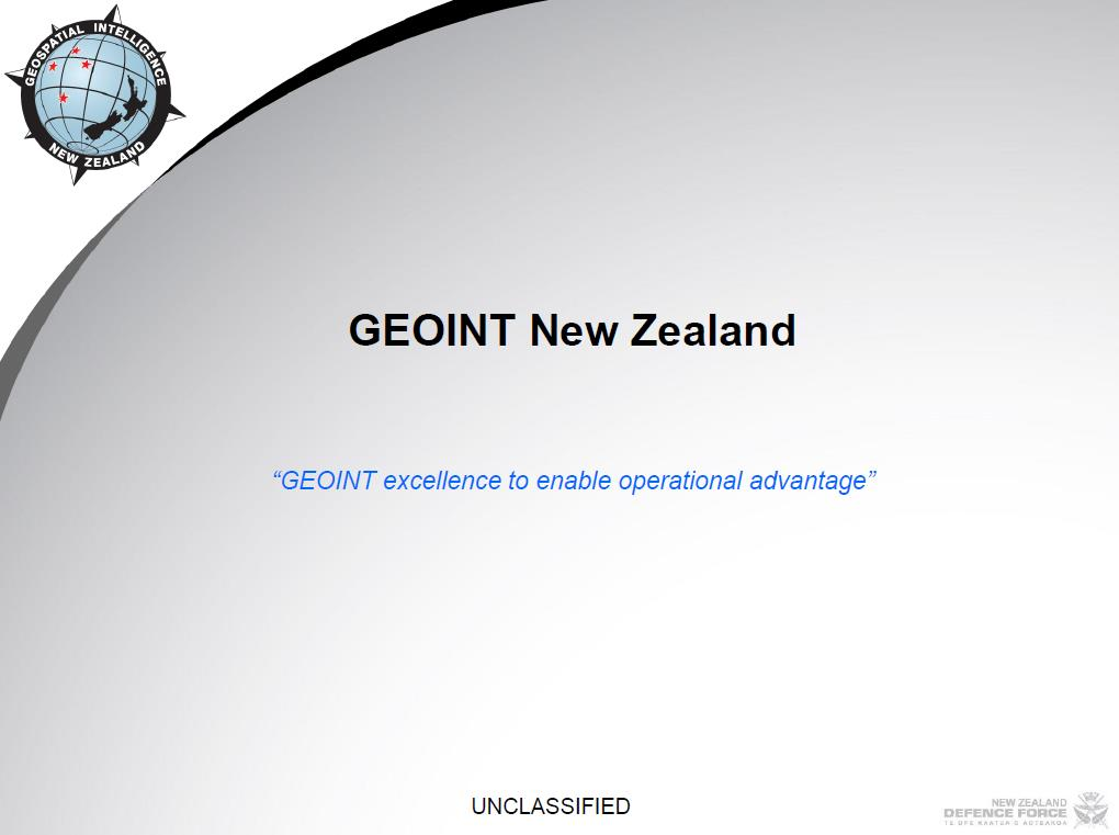 GEOINT New Zealand