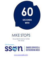 60 seconds interview with Mike Stops | Shared Services and Outsourcing Week