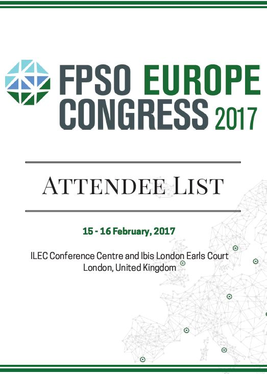FPSO Europe Congress Attendee List