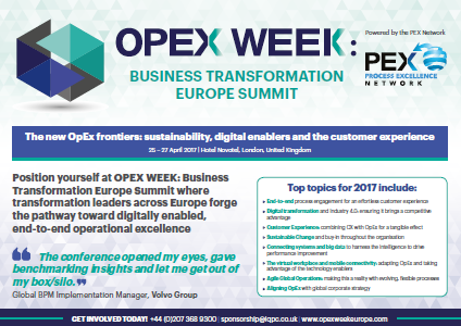 OPEX Week: Business Transformation Europe Summit 2017 Business Development Pack