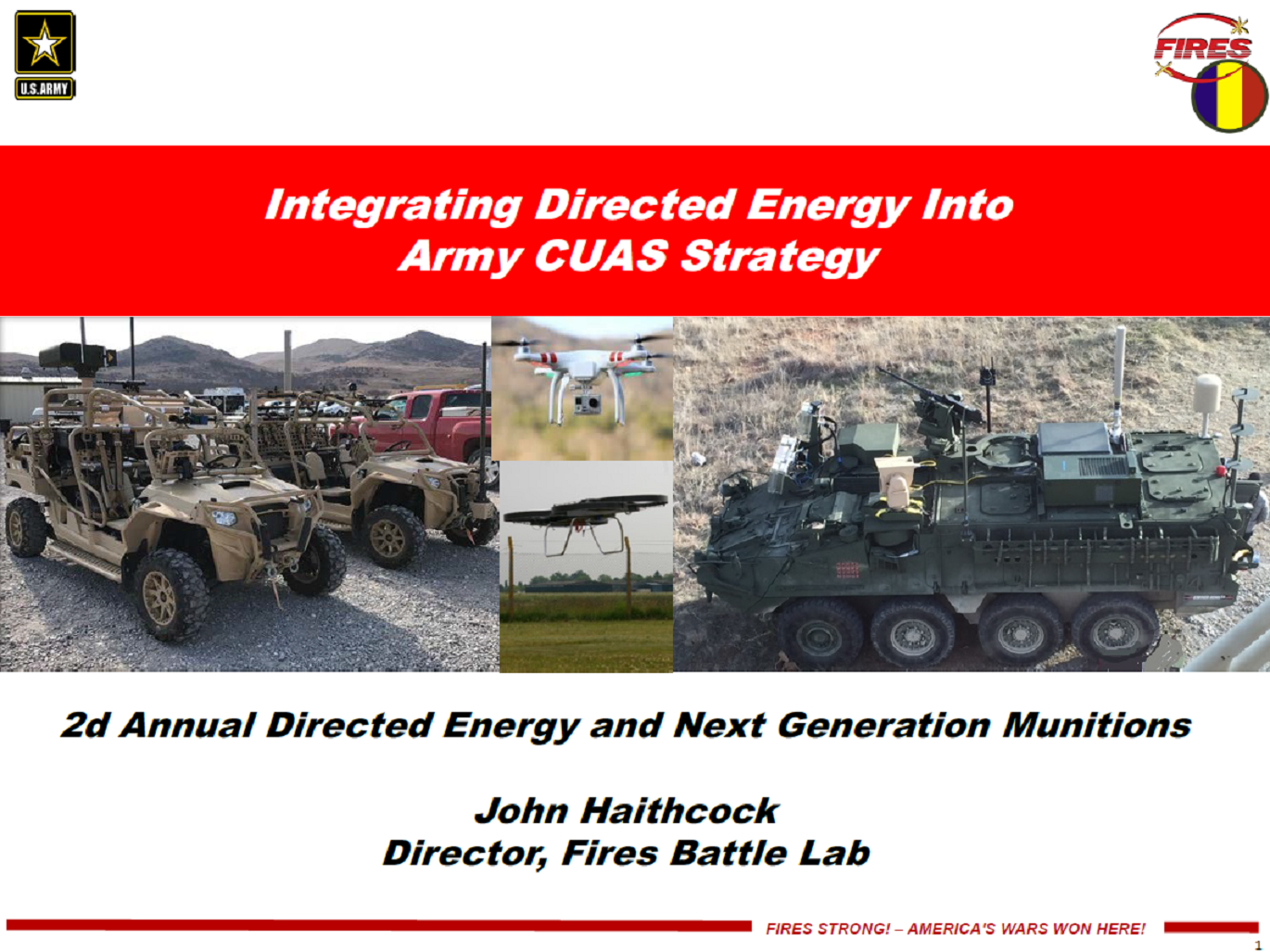 Integrating Directed Energy into the Army Counter UAS Strategy