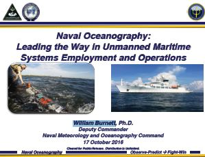 Unmanned Systems for Oceanographic Applications and Hydrographic Requirements