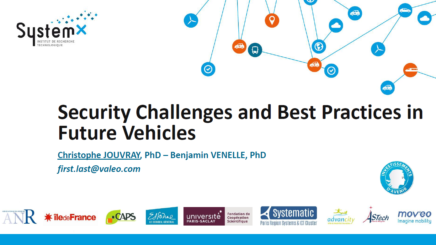 VALEO Presentation on Security Challenges and Best Practices in Future Vehicles