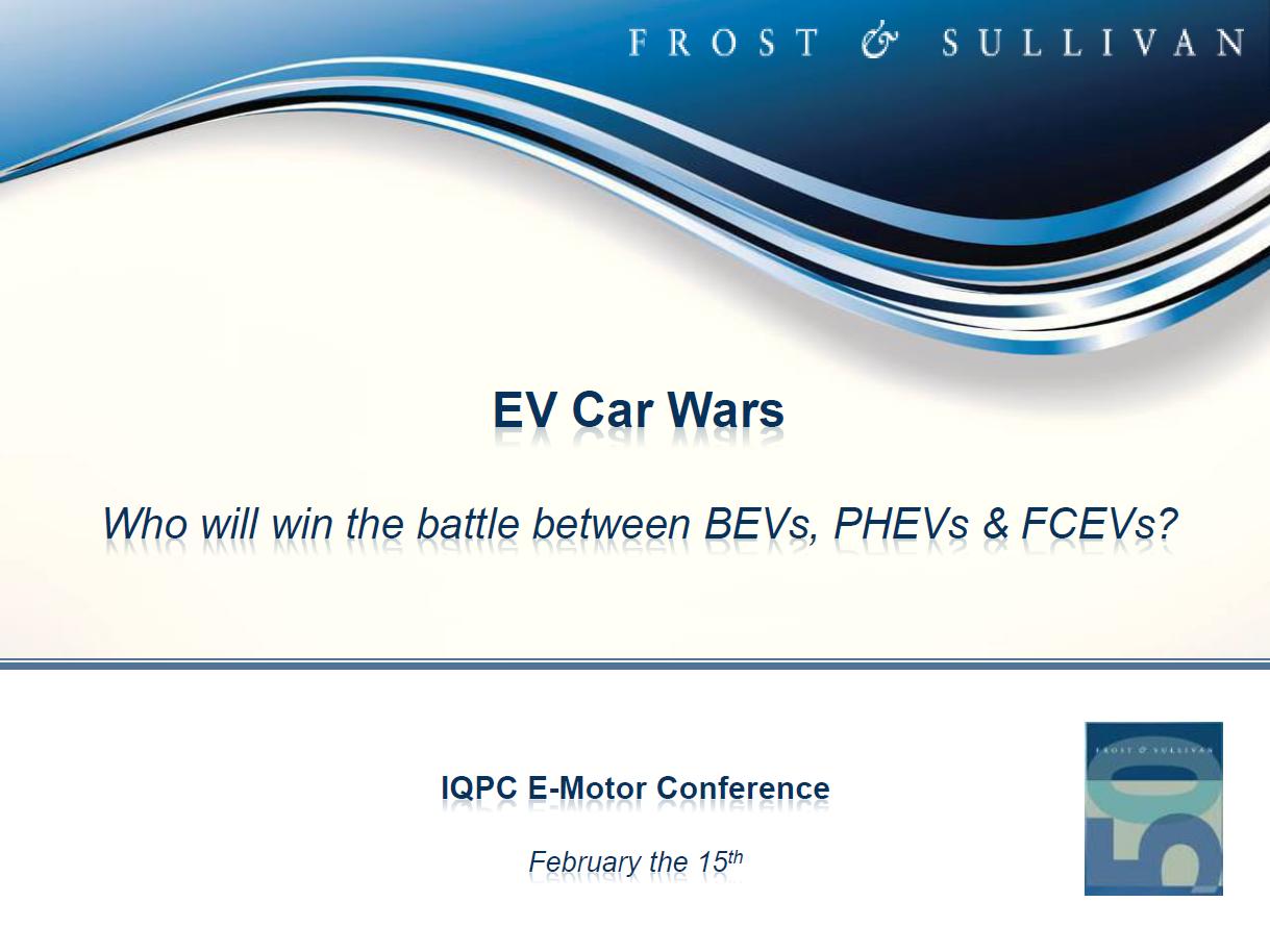 Frost and Sullivan presentation on market outlook on e-motor technology
