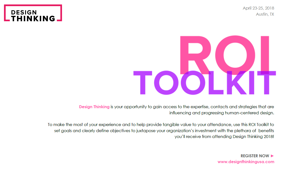 2018 Design Thinking ROI Toolkit
