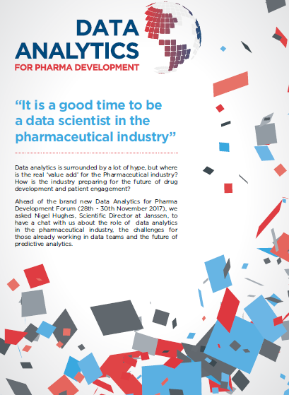 """It is a good time to be a data scientist in the pharmaceutical industry"""