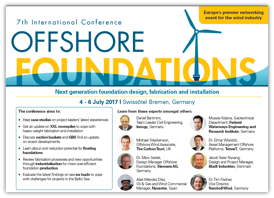Offshore Foundations 2017 Agenda