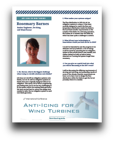 Interview with Rosemary Barnes, Senior Engineer De-Icing at LM Wind Power
