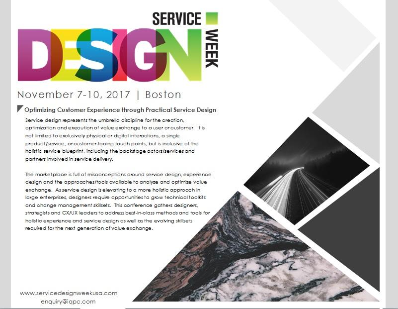 Service Design Week Pre-Brochure