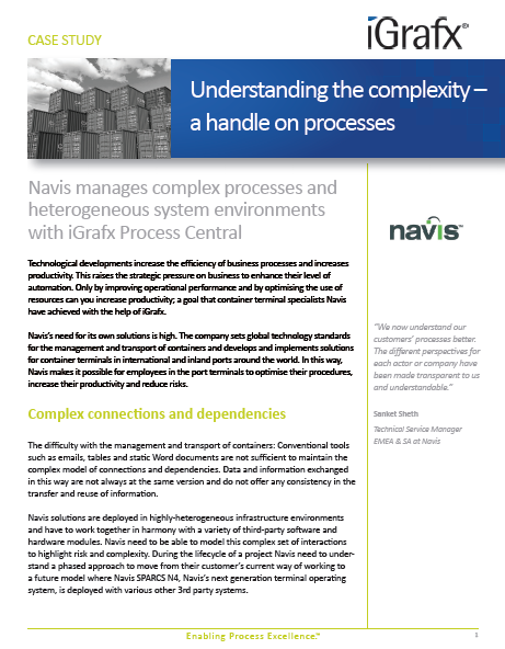 Understanding the complexity – a handle on processes