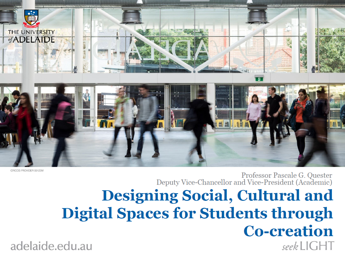 Designing Social and Cultural Spaces for Students through Co-creation in order to create a Global and Connected Experience on Campus