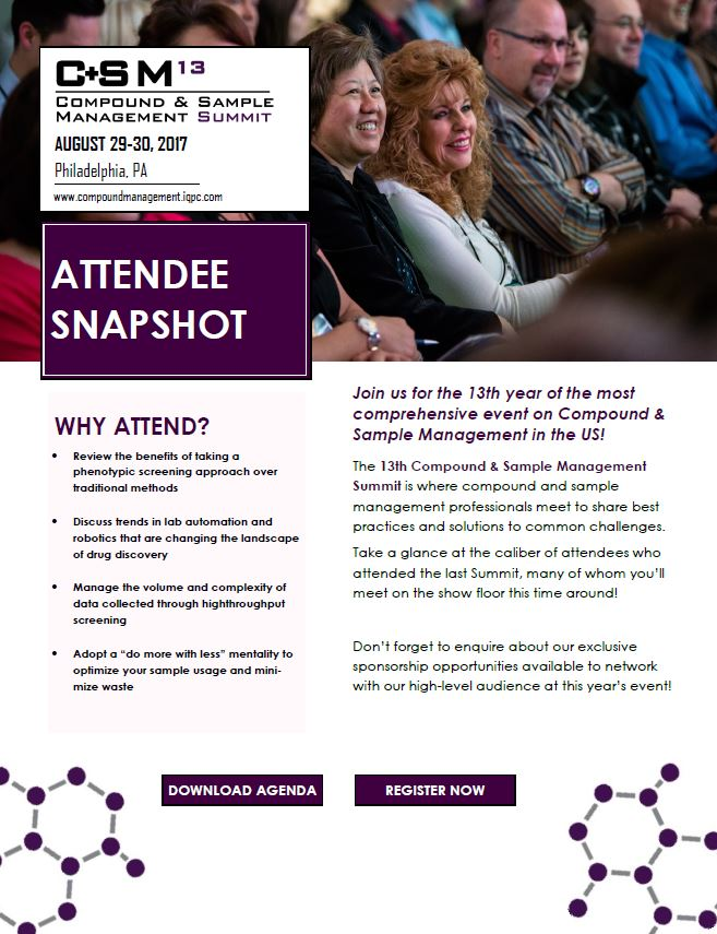 Attendee Snapshot | 13th Compound and Sample Management Summit