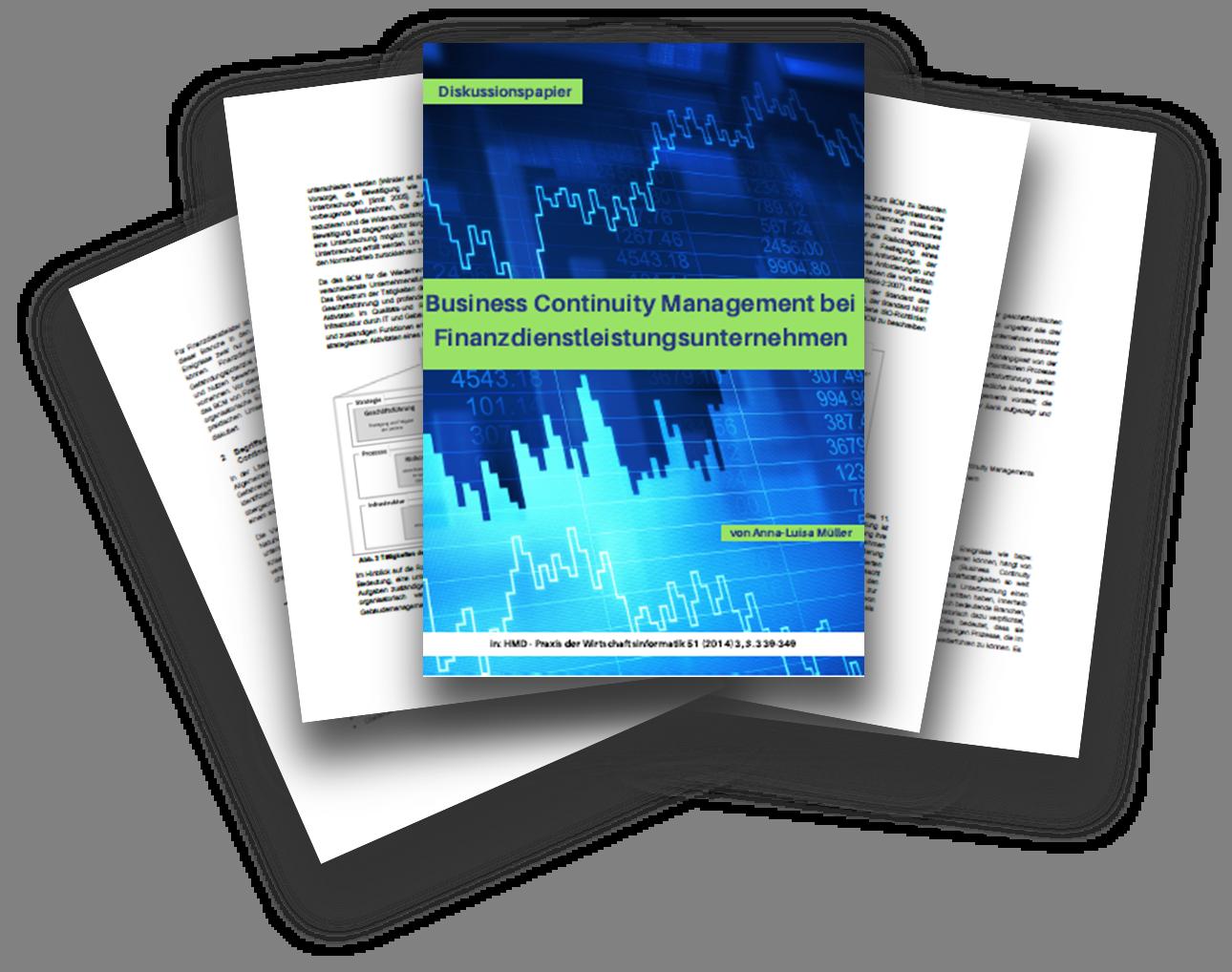 Business Continuity Management bei Finanzdienstleistungsunternehmen