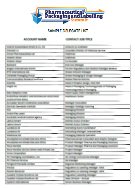 Sample Delegate List